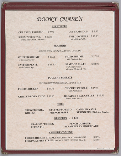 Image for Menu from Dooky Chase's Restaurant