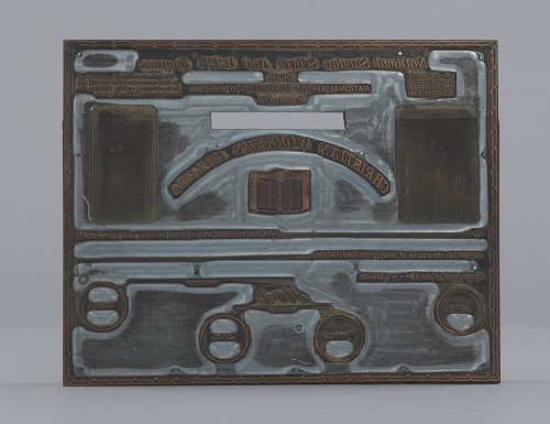Image for Printing plate used by the R.H. Boyd Publishing Corporation