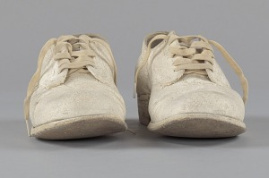 images for Pair of nurse's shoes worn by Pauline Brown Payne-thumbnail 2