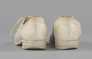 images for Pair of nurse's shoes worn by Pauline Brown Payne-thumbnail 4