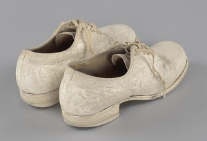 images for Pair of nurse's shoes worn by Pauline Brown Payne-thumbnail 6