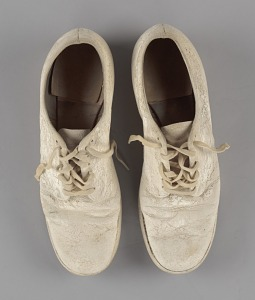 images for Pair of nurse's shoes worn by Pauline Brown Payne-thumbnail 7