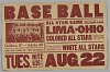 Thumbnail for Poster for a game between the Lima-Ohio Colored All Stars and the White All Star