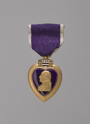 Image for Purple Heart medal awarded posthumously to Tuskegee Airman 2d Lt. James McCullin