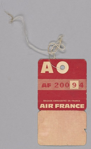 Image for Airline freight tag from Mae's Millinery Shop