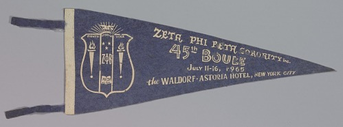 Image for Pennant for the Zeta Phi Beta sorority's 45th Boulé