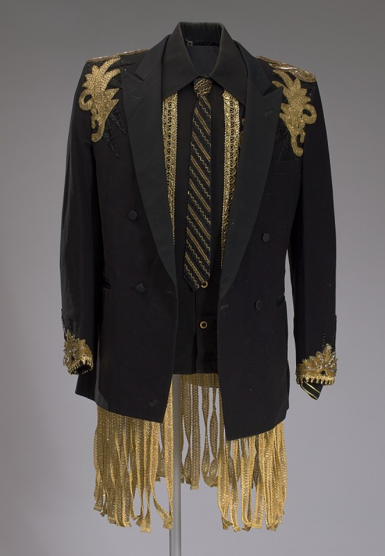 Image 1 for Black jacket with gold decorations worn by LaMonte McLemore of The 5th Dimension