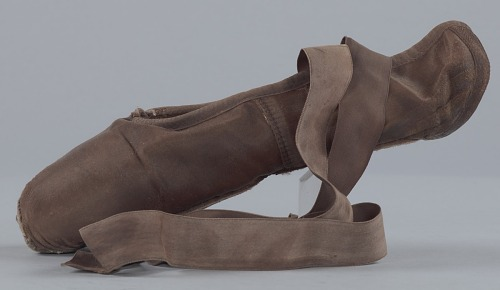 Image for Toe shoe and tights worn by Ingrid Silva of Dance Theatre of Harlem