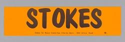 Bumper sticker endorsing Carl Stokes for Mayor of Cleveland