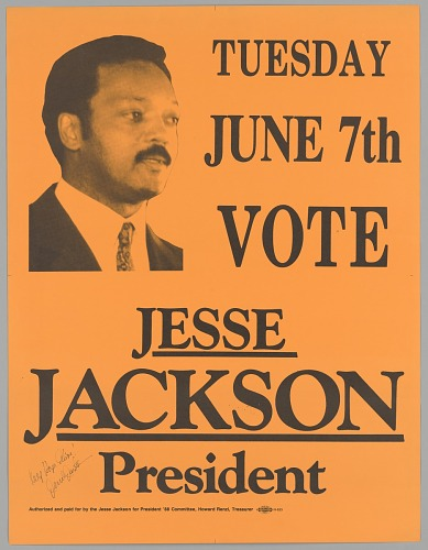Image for Poster for Jesse Jackson 1988 presidential campaign