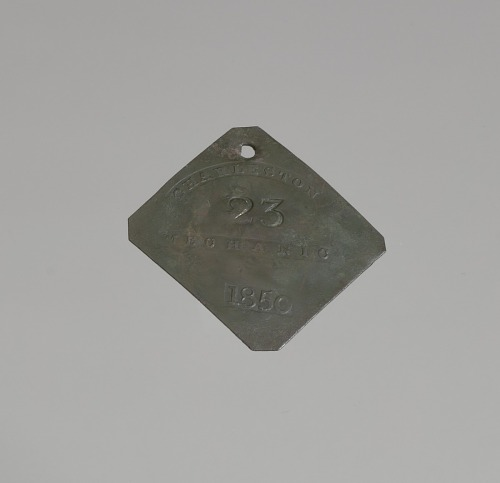 Image for Charleston slave badge from 1850 for Mechanic No. 23