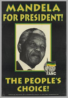 Presidential campaign poster for Nelson Mandela