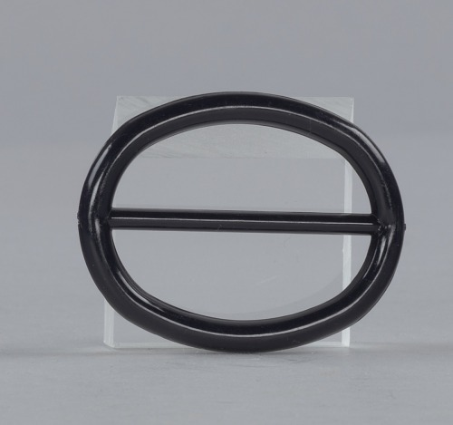 Image for Black plastic buckle from Mae's Millinery Shop