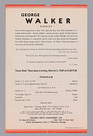 Image for Program for George Walker concert