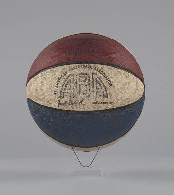 Basketball used in American Basketball Association games