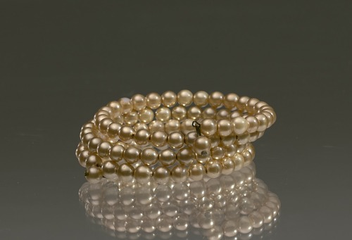 Image for Gold pearl coil bracelet from Mae's Millinery Shop