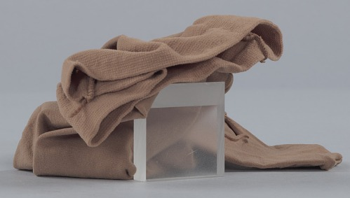 Image for Toe shoe and tights worn by Alexandra Jacob of Dance Theatre of Harlem