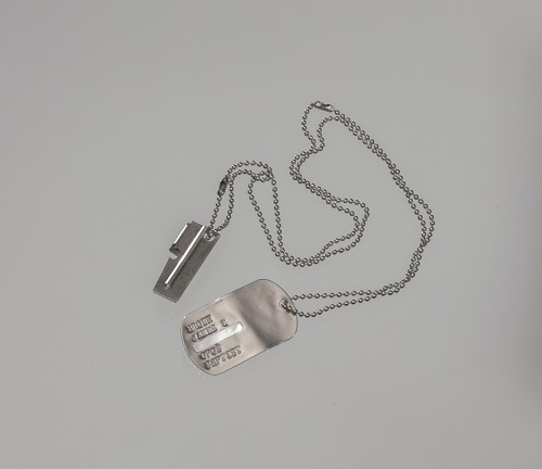 Image for Dog tag and P38 can opener used by James E. Brown during the Vietnam War