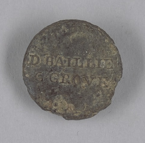 Image for Identification button worn by enslaved persons on Golden Grove Plantation