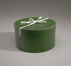 Thumbnail for Green circular hatbox with lid from Mae's Millinery Shop