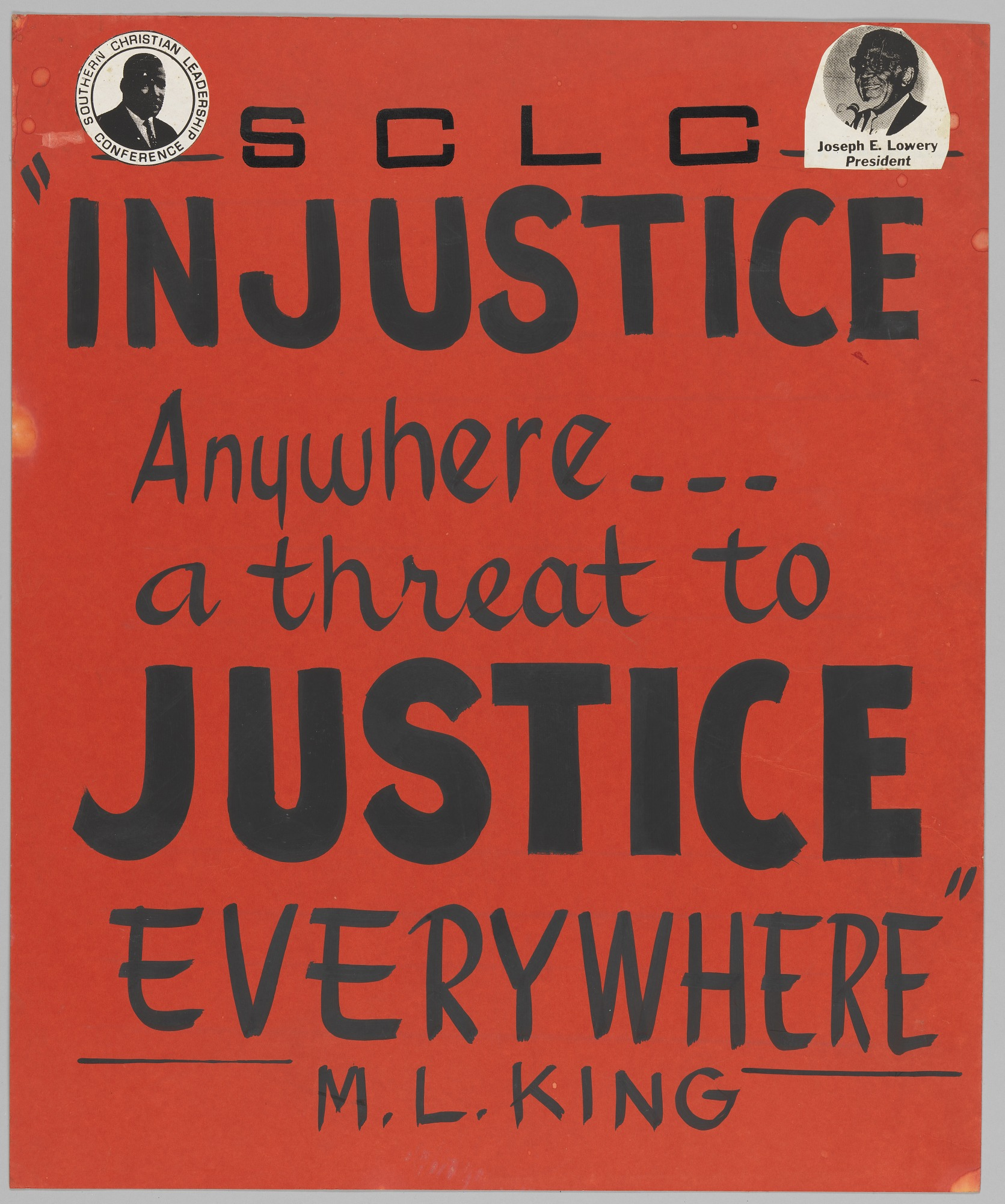 images for Handmade SCLC poster supporting justice