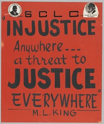 Handmade SCLC poster supporting justice