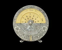 Circular desk calendar owned by Mary Church Terrell