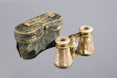Opera glasses and case owned by Mary Church Terrell