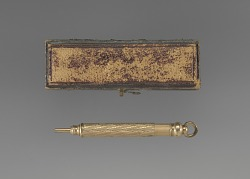 Gold pencil and case owned by the Terrell family