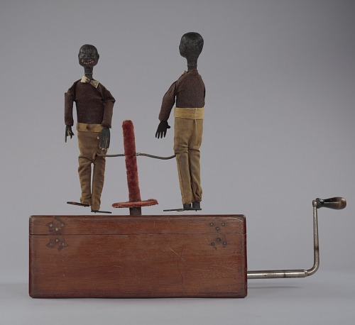 Image for Crank toy in the form of two minstrel male dancers