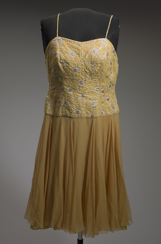 Image 1 for Yellow cocktail dress designed by Don Loper and worn by Ella Fitzgerald