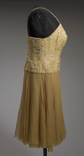 Image for Yellow cocktail dress designed by Don Loper and worn by Ella Fitzgerald