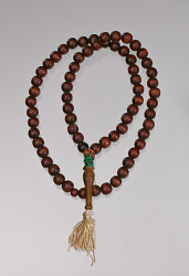 Wooden prayer beads owned by Suliaman El-Hadi