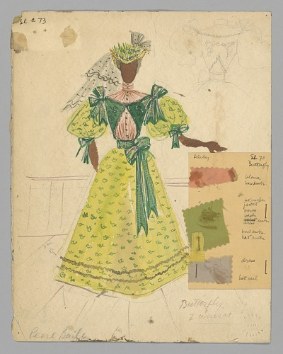 Image for Watercolor costume sketch by Lemuel Ayers for the musical St. Louis Woman