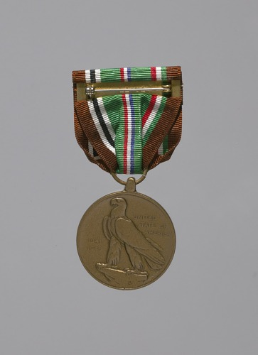 Image for European African Middle Eastern Campaign service medal awarded to Lorenzo DuFau
