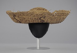 Straw sombrero hat associated with Civil Rights campaign, Camden, Alabama