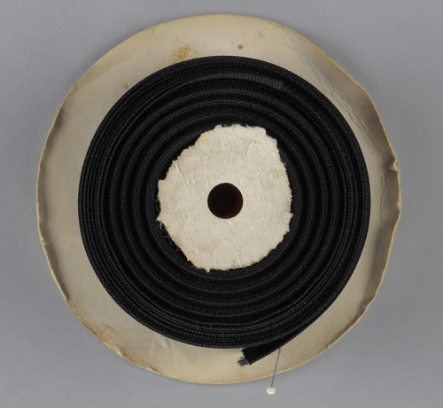 Image for Display stand with spools of thread and needles from Mae's Millinery Shop