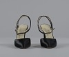 images for Pair of black stiletto heel shoes by Charles Jourdan from Mae's Millinery Shop-thumbnail 2