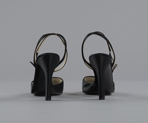 images for Pair of black stiletto heel shoes by Charles Jourdan from Mae's Millinery Shop-thumbnail 4