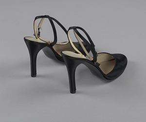 images for Pair of black stiletto heel shoes by Charles Jourdan from Mae's Millinery Shop-thumbnail 6