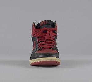 images for Pair of red and black Air Jordan I high top sneakers made by Nike-thumbnail 7