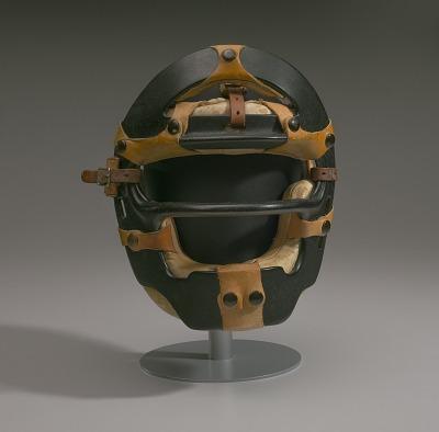 Umpire mask worn by Emmett Ashford