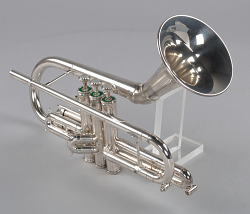 """Pudgy"" trumpet owned by Dizzy Gillespie"