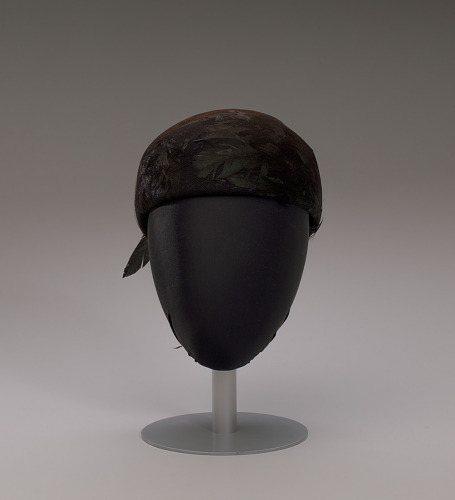 Image for Black hat with iridescent black feathers from Mae's Millinery Shop