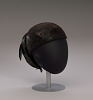 Thumbnail for Black hat with iridescent black feathers from Mae's Millinery Shop