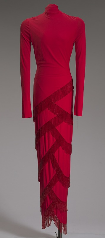 Image 1 for Red dress designed by Diane von Furstenberg and worn by Whitney Houston