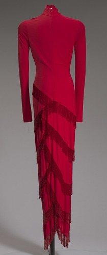 Image for Red dress designed by Diane von Furstenberg and worn by Whitney Houston