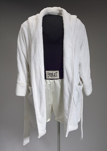 Robe and trunks worn by Denzel Washington as Rubin Carter in The Hurricane