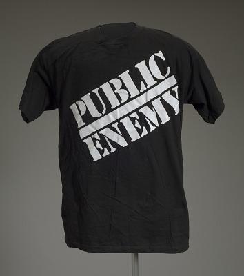 T-shirt with Public Enemy logo