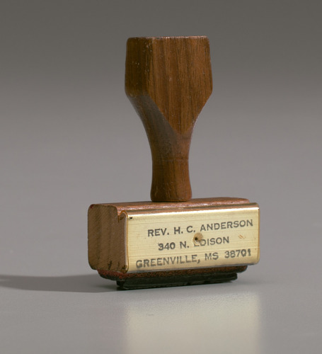 Image for Address stamp from the studio of H.C. Anderson